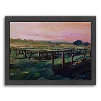 Americanflat ''Napa Valley Vineyard During Sunset'' Framed Wall Art