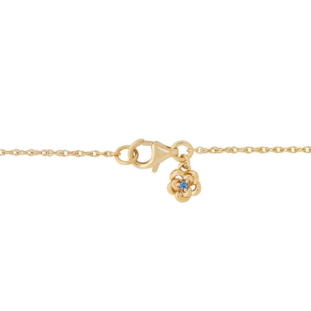 David Tutera 14k Gold Over Silver Simulated Gemstone & Cubic Zirconia Y Pendant