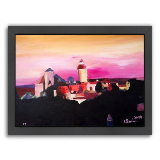 Americanflat ''Nuremberg with Castle at Dusk'' Framed Wall Art