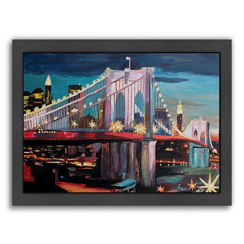 Americanflat ''NYC Bridge 3'' Framed Wall Art