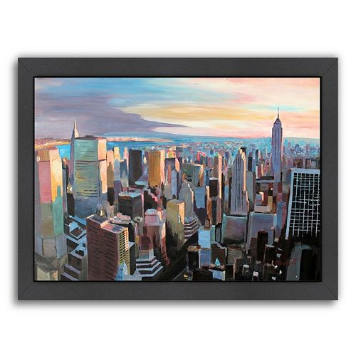 Americanflat ''NYC Sunlight 2'' Framed Wall Art