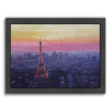 Americanflat ''Paris Eiffel At Dusk'' Framed Wall Art