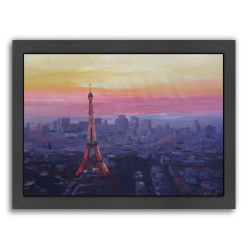 Americanflat ''Paris Eiffel At Dusk'' Framed Wall Art