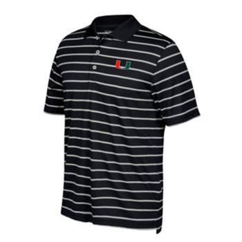 Men's adidas Miami Hurricanes Textured Golf Polo