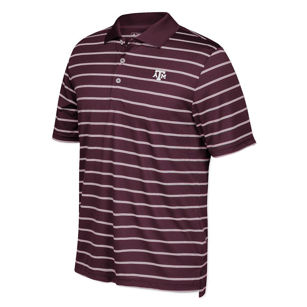 Men's adidas Texas A&M Aggies Striped Golf Polo