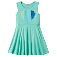 Girls 4-6x Design 365 Glitter Heart Graphic Dress