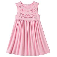 Girls 4-6x Design 365 Embroidered Print Bodice Dress