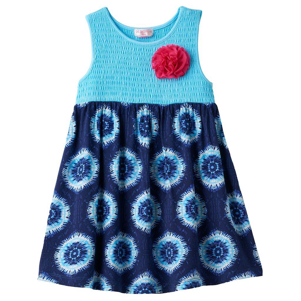 Girls 4-6x Design 365 Smocked Bodice Tie-Dye Dress