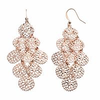 Apt. 9® Filigree Disc Nickel Free Kite Earrings