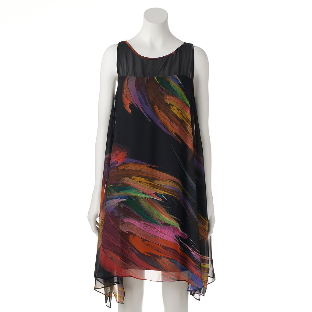 Women's Bethany Abstract Brushstroke Shift Dress
