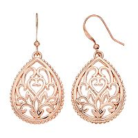 Apt. 9® Filigree Nickel Free Teardrop Earrings