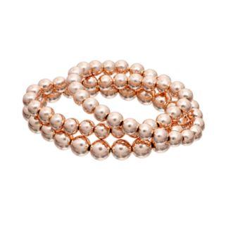Polished Bead Stretch Bracelet Set