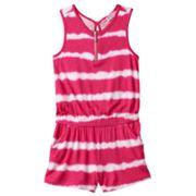 Girls 4-6x Design 365 Tie-Dye Striped Romper