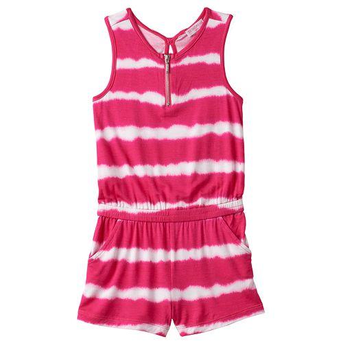 454223b8616 Girls 4-6x Design 365 Tie-Dye Striped Romper