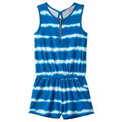 Girls 4-6x Design 365 Tie-Dye Striped Romper