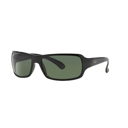 Ray-Ban Highstreet RB4075 61mm Rectangle Polarized Sunglasses