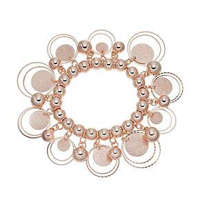 Bead & Glittery Disc Stretch Bracelet