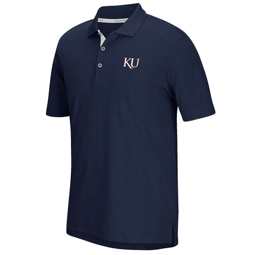 Men's adidas Kansas Jayhawks Textured Golf Polo
