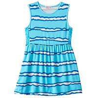Toddler Girl Design 365 Tie-Dye Striped Dress