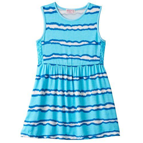 Toddler Girl Design 365 Tie-Dye Striped Dress