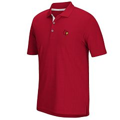 Men's adidas Louisville Cardinals Textured Golf Polo