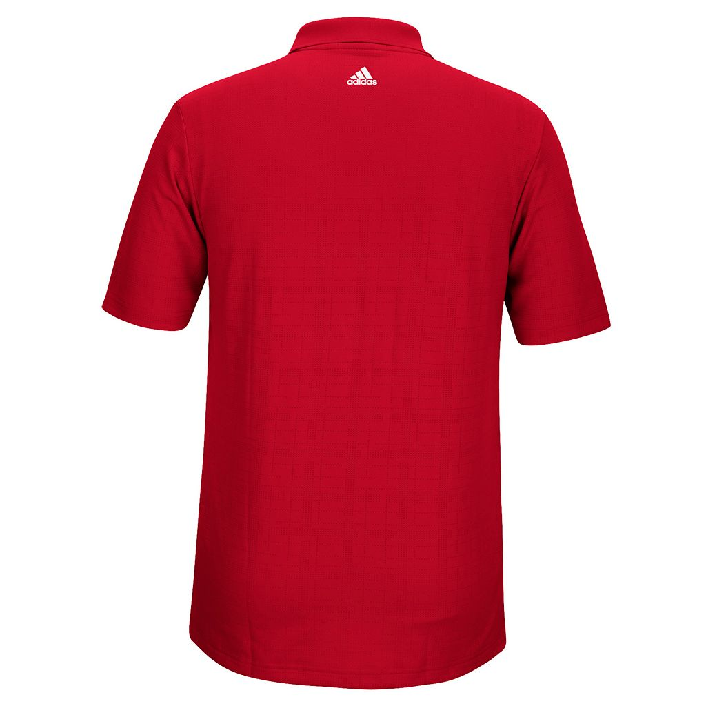 Men's adidas Nebraska Cornhuskers Textured Golf Polo