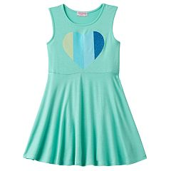 Toddler Girl Design 365 Glitter Heart Graphic Dress