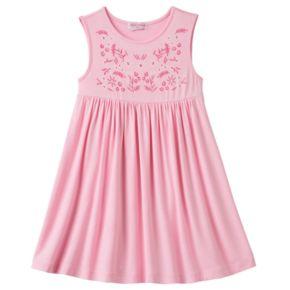 Toddler Girl Design 365 Embroidered Print Bodice Dress