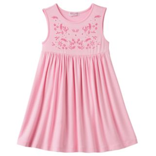 Toddler Girl Design 365 Embroidered Print Bodice Dress