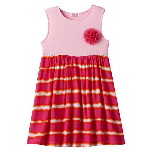 Toddler Girl Design 365 Tie-Dye Sleeveless Dress