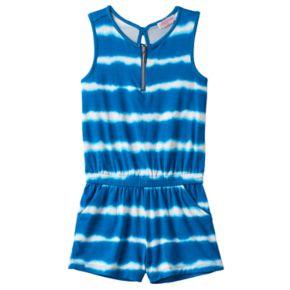 Toddler Girl Design 365 Tie-Dye Striped Romper