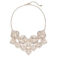 Textured Openwork Statement Necklace