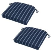 Plantation Patterns 2-pack Outdoor Seat Cushion