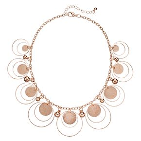 Shaky Bead & Orbital Circle Statement Necklace