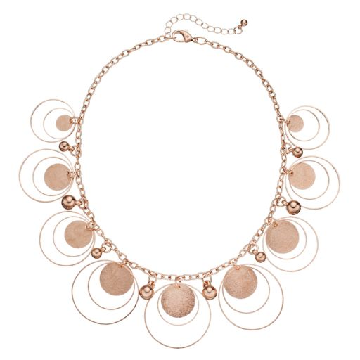 Shaky Bead & Orbital Circle Statement Necklace