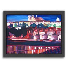Americanflat ''Prague Hradschin Charles Bridge'' Framed Wall Art