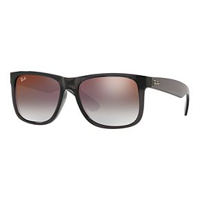 Ray-Ban Justin RB4165 55mm Rectangle Mirrored Gradient Sunglasses