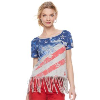 Women's Rock & Republic® Fringe Flag Tee