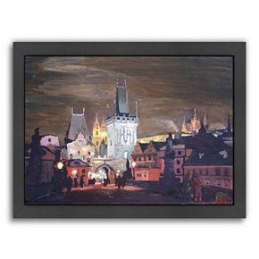 Americanflat ''Prague Charles Bridge - Karluv Most'' Framed Wall Art