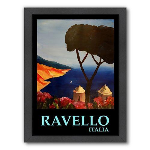 Americanflat ''Ravello Amalfi Italy'' Framed Wall Art