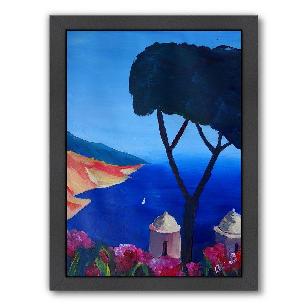 Americanflat ''Ravello Amalfi Salerno Wonderful Coast Line 2'' Framed Wall Art