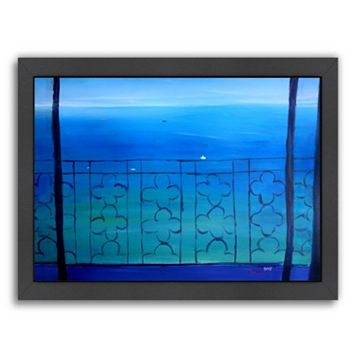 Americanflat ''Romantic Balcony in the Mediterranean'' Framed Wall Art