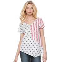 Women's Rock & Republic® Flag Asymmetrical Tee