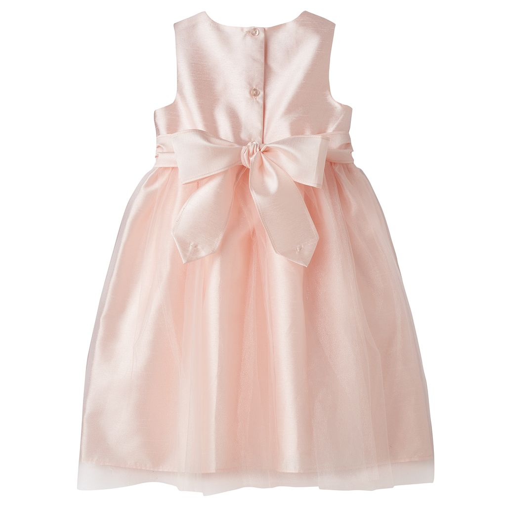 Toddler Girl Marmellata Classics Shantung Rosette Ballerina Dress