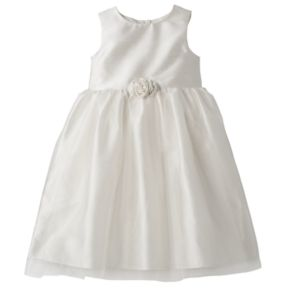 Toddler Girl Marmellata Classics Shantung Rosette Ballerina Dress