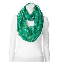 St. Patrick's Day 'Get Lucky' Horseshoe & Shamrock Infinity Scarf