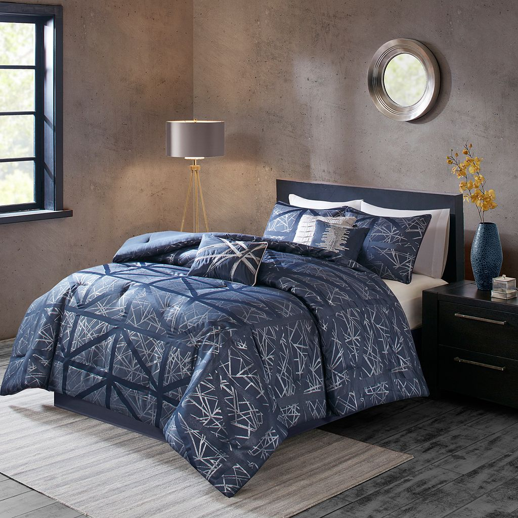 Madison Park 6-piece Nico Duvet Cover Set