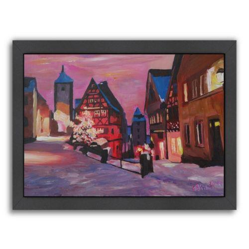 "Americanflat ""Rothenburg Tauber Winter Dream Land"" Framed Wall Art"