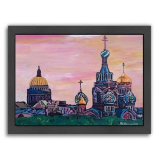 Americanflat ''Saint Petersburg with Golden Couples'' Framed Wall Art