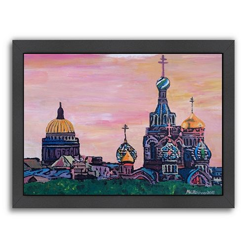 Americanflat ''Saint Petersburg with Golden Couples'' Framed Wall Art